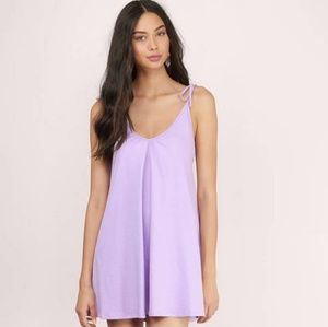 Tobi ALL IN A DAYS WORK LAVENDER SHIFT DRESS LL